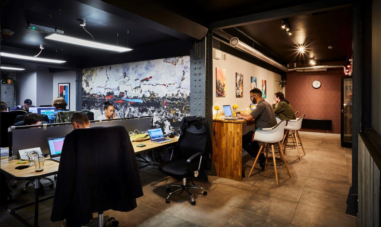 coworking desk space office ancoats manchester hotdesk